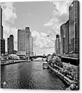 Chicago River - The River That Flows Backwards Acrylic Print by Christine Till