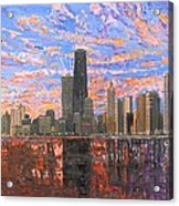 Chicago Skyline - Lake Michigan Acrylic Print by Mike Rabe