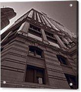 Chicago Towers Bw Acrylic Print by Steve Gadomski