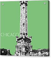 Chicago Water Tower - Apple Acrylic Print by DB Artist