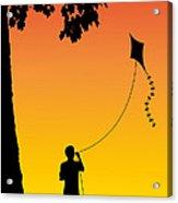 Childhood Dreams 1 The Kite Acrylic Print by John Edwards