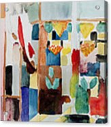 Children At The Greengrocers I Acrylic Print by Franz Marc