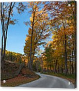Chillin' On A Dirt Road Square Acrylic Print by Bill Wakeley