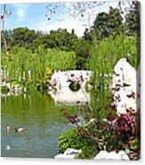 Chinese Gardens Acrylic Print by Bedros Awak