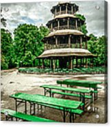 Chinesischer Turm I Acrylic Print by Hannes Cmarits