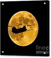 Chinook Moon Color Acrylic Print by Al Powell Photography USA