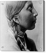Chinookan Indian Woman Circa 1910 Acrylic Print by Aged Pixel