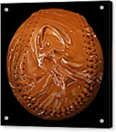 Chocolate Dipped Baseball Square Acrylic Print by Andee Design