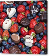 Chocolates And Strawberries Acrylic Print by Tim Gainey
