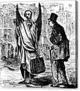 Cholera In Slums, 1866 Acrylic Print by Granger