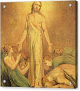Christ Appearing To The Apostles After The Resurrection Acrylic Print by William Blake