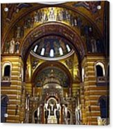 Christ Is Risen - St Louis Basilica Acrylic Print by Thia Stover