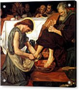 Christ Washing Peter's Feet Acrylic Print by Ford Madox Brown