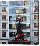 Christmas At San Francisco Macy's Department Store - 5d20550 Acrylic Print by Wingsdomain Art and Photography