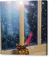 Christmas Candle Acrylic Print by Brian Wallace