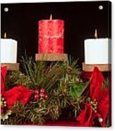 Christmas Candle Trio Acrylic Print by Kenneth Sponsler