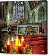 Christmas Candles Acrylic Print by Adrian Evans