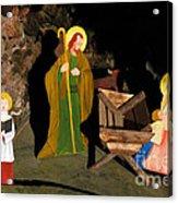 Christmas Crib Scene Acrylic Print by Gaspar Avila