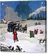Christmas Scene Acrylic Print by English School
