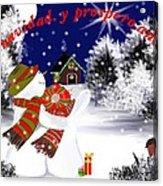Christmas. Star. Spanish  Acrylic Print by Elizabeth millan Rodriguez