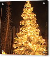 Christmas Tree Lights Acrylic Print by Boon Mee