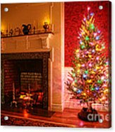 Christmas Tree Acrylic Print by Olivier Le Queinec