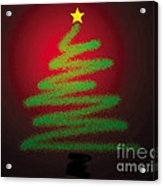 Christmas Tree With Star Acrylic Print by Genevieve Esson