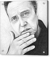 Christopher Walken Acrylic Print by Olga Shvartsur