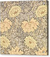 Chrysanthemum Acrylic Print by William Morris