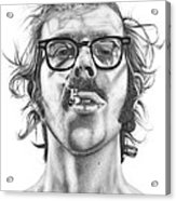 Chuck Close Acrylic Print by Kalie Hoodhood
