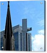 Church And State Acrylic Print by Randall Weidner