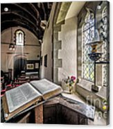 Church Chronicles Acrylic Print by Adrian Evans