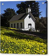 Church In The Clover Acrylic Print by Garry Gay