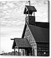 Church On The Mount In Black And White Acrylic Print by Lee Craig