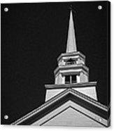 Church Steeple Stowe Vermont Acrylic Print by Edward Fielding