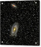 Cigar Galaxy And Bodes Galaxy Acrylic Print by Reinhold Wittich
