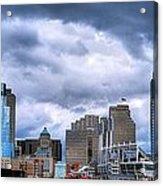 Cincinnati Skyline Clouds Acrylic Print by Mel Steinhauer