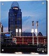 Cincinnati Skyline Acrylic Print by Deborah Fay