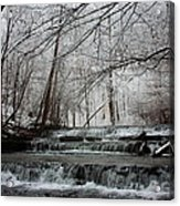 Cinderella Falls In Winter Acrylic Print by Rachel Hallmark
