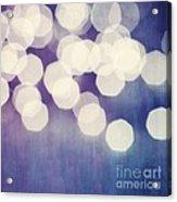 Circles Of Light Acrylic Print by Priska Wettstein