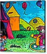 Circus Acrylic Print by Monica Engeler