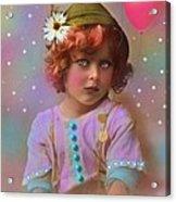 Circus Pixie Acrylic Print by Karen Morley
