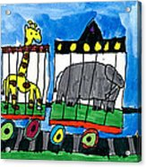 Circus Train Acrylic Print by Max Kaderabek Age Eight
