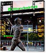 Citizens Bank Park - Mike Schmidt Statue Acrylic Print by Bill Cannon