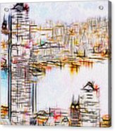 City By The Bay Acrylic Print by Jack Zulli