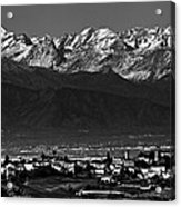 City In Between Acrylic Print by Michael  Bjerg