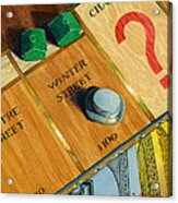 City Island Monopoly Iv Acrylic Print by Marguerite Chadwick-Juner
