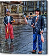 City Jugglers Acrylic Print by Ron Shoshani