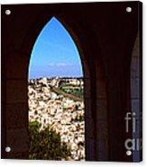 City Of Nazareth Acrylic Print by Thomas R Fletcher
