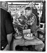 City - South Street Seaport - New Amsterdam Market - Apples And Mustard Acrylic Print by Mike Savad